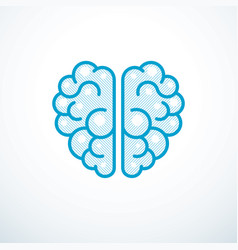 Human anatomical brain logo or icon vector