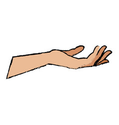Human hand health care medical design vector