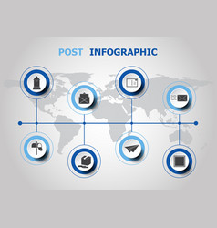 infographic design with post icons vector image
