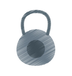 kettlebell weights icon image vector image