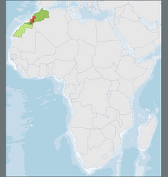 Kingdom morocco location on africa map vector