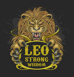 leo lion zodiac element vector image
