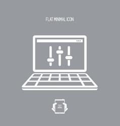 Levels control - flat minimal icon vector