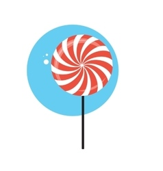 Line Icon with Flat Graphics Element of Sweet vector