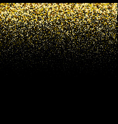 luxury black background with gold sparklers vector image