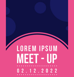 Meet up card geometric cover design vector
