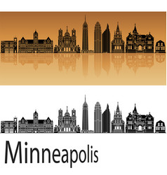 minneapolis skyline vector image