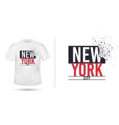 new york city slogan for t shirt printing design vector image