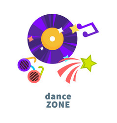night party or dance music club icons vector image