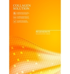 Orange background collagen solution vector