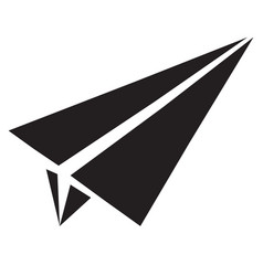 Paper airplane flat icon paper airplane sign vector