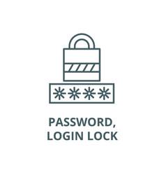passwordlogin lock line icon outline vector image