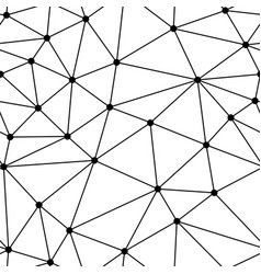 Polygonal background dots and triangles vector
