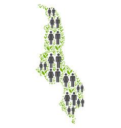 Population malawi map vector