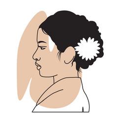 Portrait asian woman vector