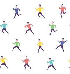 running people hurry late man sport activities vector image
