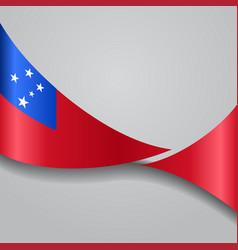 Samoan wavy flag vector