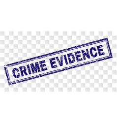 Scratched crime evidence rectangle stamp vector