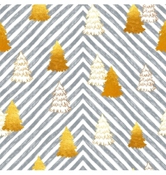 Seamless pattern with New Year gold vector