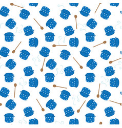 seamless pots pattern vector image