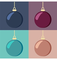 Set of Christmas baubles vector