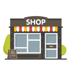 Shop or market store front exterior facade vector