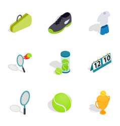 sport elements icons isometric 3d style vector image