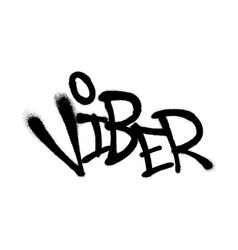 Sprayed viber font graffiti with overspray in vector