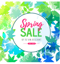Spring big sale watercolor poster vector