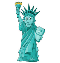 Statue liberty theme image 1 vector