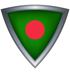 steel shield with flag bangladesh vector image