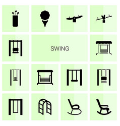 Swing icons vector