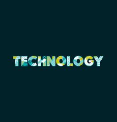 Technology concept word art vector