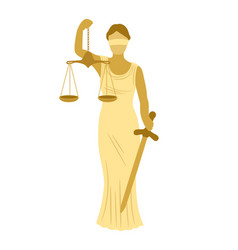 themis icon isolated on white vector image