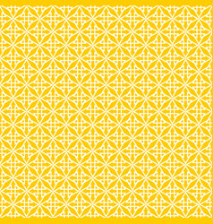 Tile yellow and white pattern vector