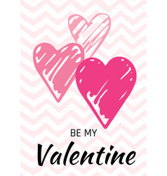 valentine s day card love design with hearts quote vector image