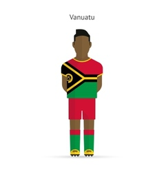 Vanuatu football player Soccer uniform vector