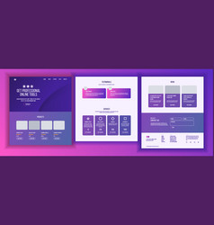 Website page business website web page vector
