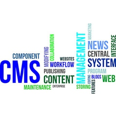 Word cloud cms vector
