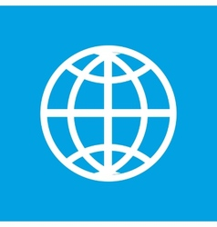 World white icon vector