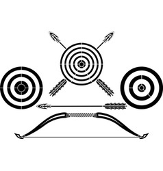 bow and targets vector image