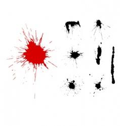 grunge blots vector image vector image