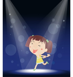 Little Girl Stage Performance vector image vector image
