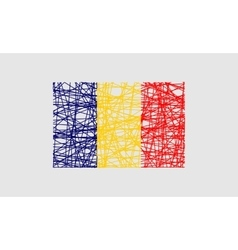 Romania flag design concept vector image vector image