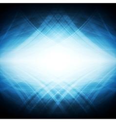 Shiny blue hi-tech background vector image vector image