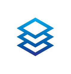 abstract layer logo image vector image
