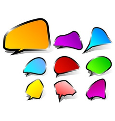 Black edged speech bubbles vector image vector image