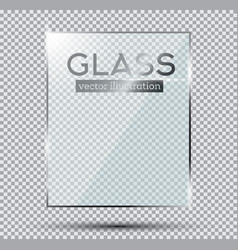 glass plate isolated on transparent background vector image vector image