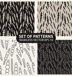 graphical abstract seamless pattern of circles vector image