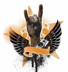 heavy emblem vector image